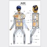 Download: Bauplan Fallschirmspringer ALEX und Fallschirm US49